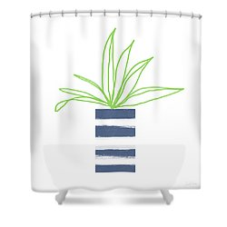 Potted Plant 2- Art By Linda Woods Shower Curtain