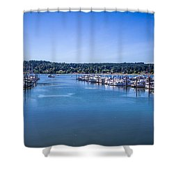 Poulsbo Marina Shower Curtain