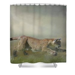 Pouncing Puma Shower Curtain