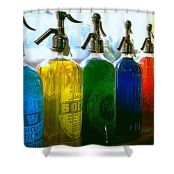 Pour Me A Rainbow Shower Curtain by Holly Kempe