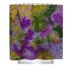 Shower Curtain featuring the painting Pouring Flowers by Vicki  Housel