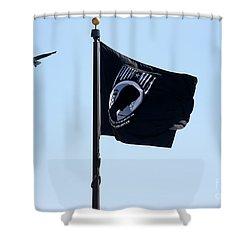 Pow Mia Shower Curtain by Joan Bertucci