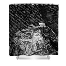 Pow Mia Never Forget Shower Curtain