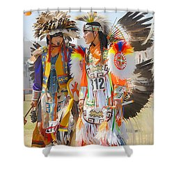 Shower Curtain featuring the photograph Pow Wow Contestants - Grand Prairie Tx by Dyle   Warren
