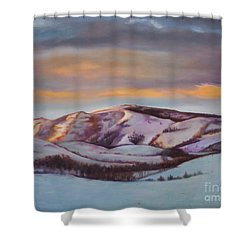 Powder Mountain Shower Curtain