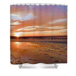 Powder Point Bridge Duxbury Shower Curtain