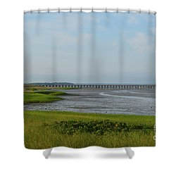Powder Point Bridge In Duxbury  Shower Curtain
