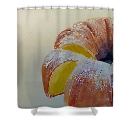 Powdered Sugar Lemon Bundt Cake Shower Curtain