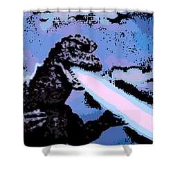 Power Blast Shower Curtain by George Pedro