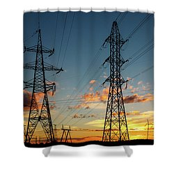 Power Cables Shower Curtain
