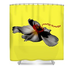 Power Flower Anemone Shower Curtain