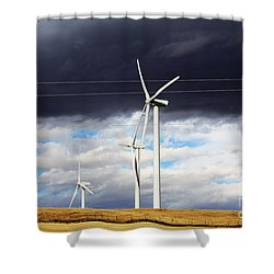 Power-full Shower Curtain by Alyce Taylor