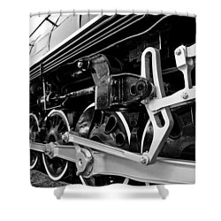 Power In The Age Of Steam Shower Curtain by Dan Dooley