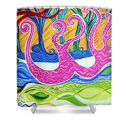 Power Of Love Shower Curtain by Genevieve Esson