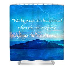 Power Of Love Shower Curtain by Joan Reese