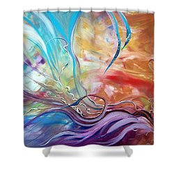 Power Of Now Shower Curtain by Jan VonBokel