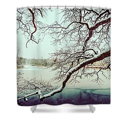 Power Of The Winter Shower Curtain