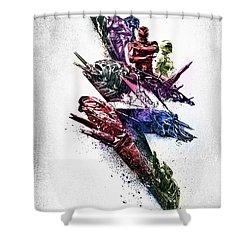 Power Rangers Poster Shower Curtain