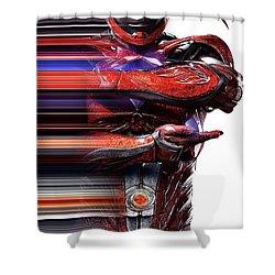 Red Power Ranger Shower Curtains