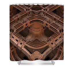 Shower Curtain featuring the digital art Power Station Epsilon by Lyle Hatch