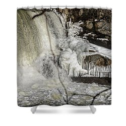 Power Station Falls On Black River  Shower Curtain