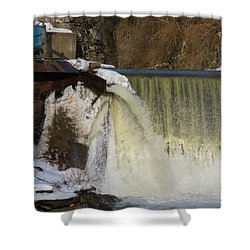 Power Station Falls On Black River One Shower Curtain