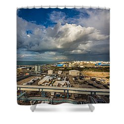 Power Vs Power Shower Curtain