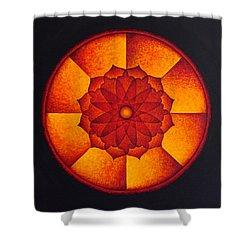 Power Wheel Shower Curtain