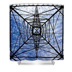 Powerful Geometry Shower Curtain