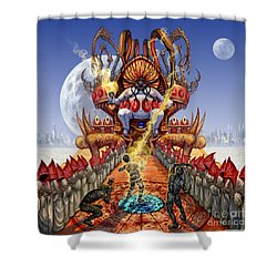 Powerless To Power Shower Curtain