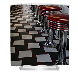 Power's Diner Port Huron Shower Curtain by Mary Bedy