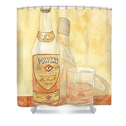 Powers Irish Whiskey Shower Curtain