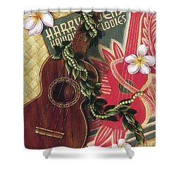 Practice My Uke Shower Curtain by Sandra Blazel - Printscapes
