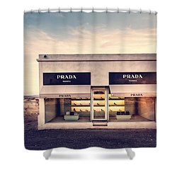 Prada Store Shower Curtain