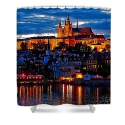 Prague Castle In The Evening Shower Curtain