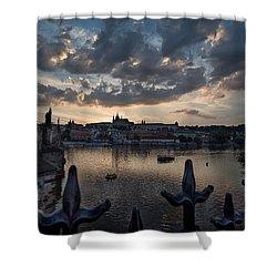 Prague Castle Shower Curtain by James David Phenicie