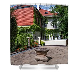 Shower Curtain featuring the photograph Prague Courtyards by Jenny Rainbow