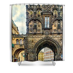 Shower Curtain featuring the photograph Prague Powder Tower  by Janis Knight