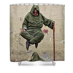 Shower Curtain featuring the photograph Prague Street Performer by Stuart Litoff