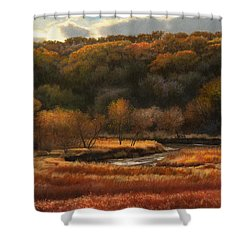 Prairie Autumn Stream No.2 Shower Curtain by Bruce Morrison