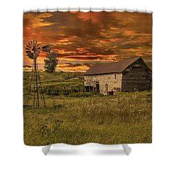 Prairie Barn Shower Curtain