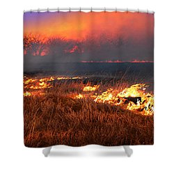 Shower Curtain featuring the photograph Prairie Burn by Rod Seel