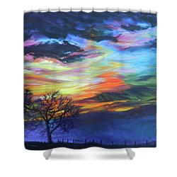 Prairie Fireworks 1 Shower Curtain