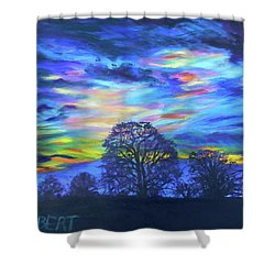 Prairie Fireworks 2 Shower Curtain