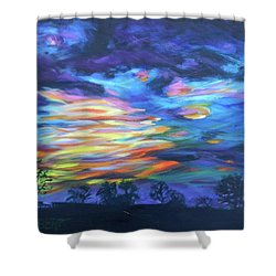 Prairie Fireworks 3 Shower Curtain