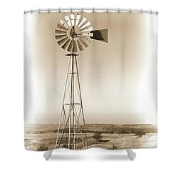 Prairie Guardian Shower Curtain