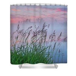 Shower Curtain featuring the photograph Prairie Pond Before Sunrise by Dan Jurak