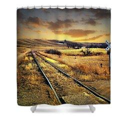 Prairie Tracks Shower Curtain