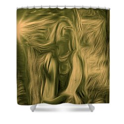 Praise Him With The Harp I Shower Curtain by Anastasia Savage Ealy