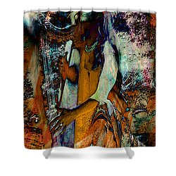 Praise Him With The Harp IIi Shower Curtain by Anastasia Savage Ealy